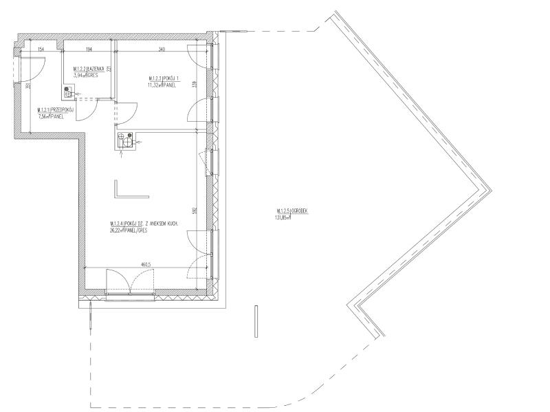 Mieszkanie B6 02 na parterze