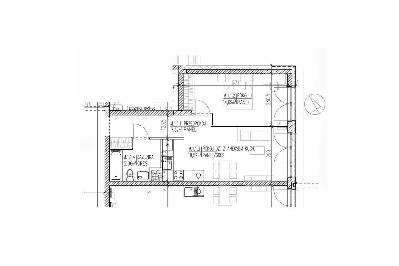 Plan mieszkania B8 01