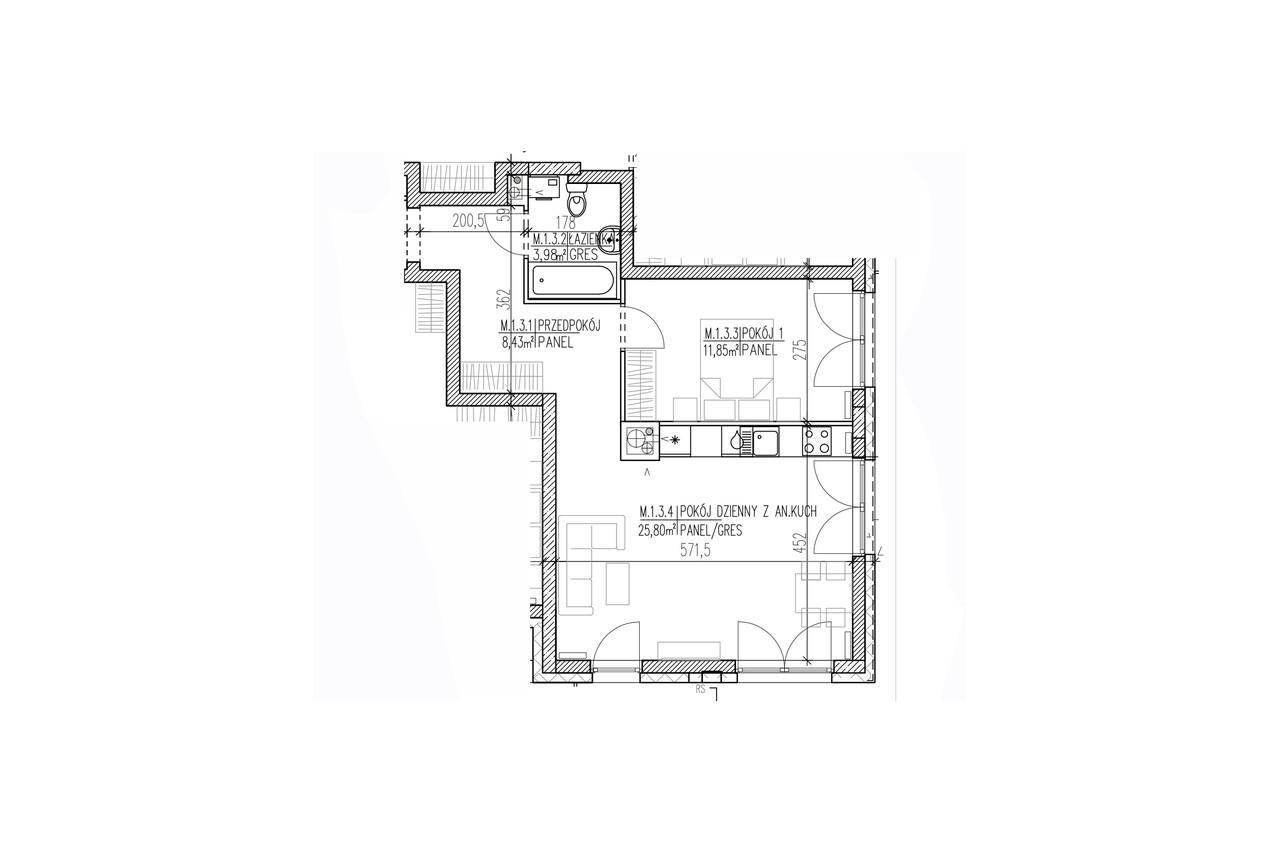 Plan mieszkania B8 03