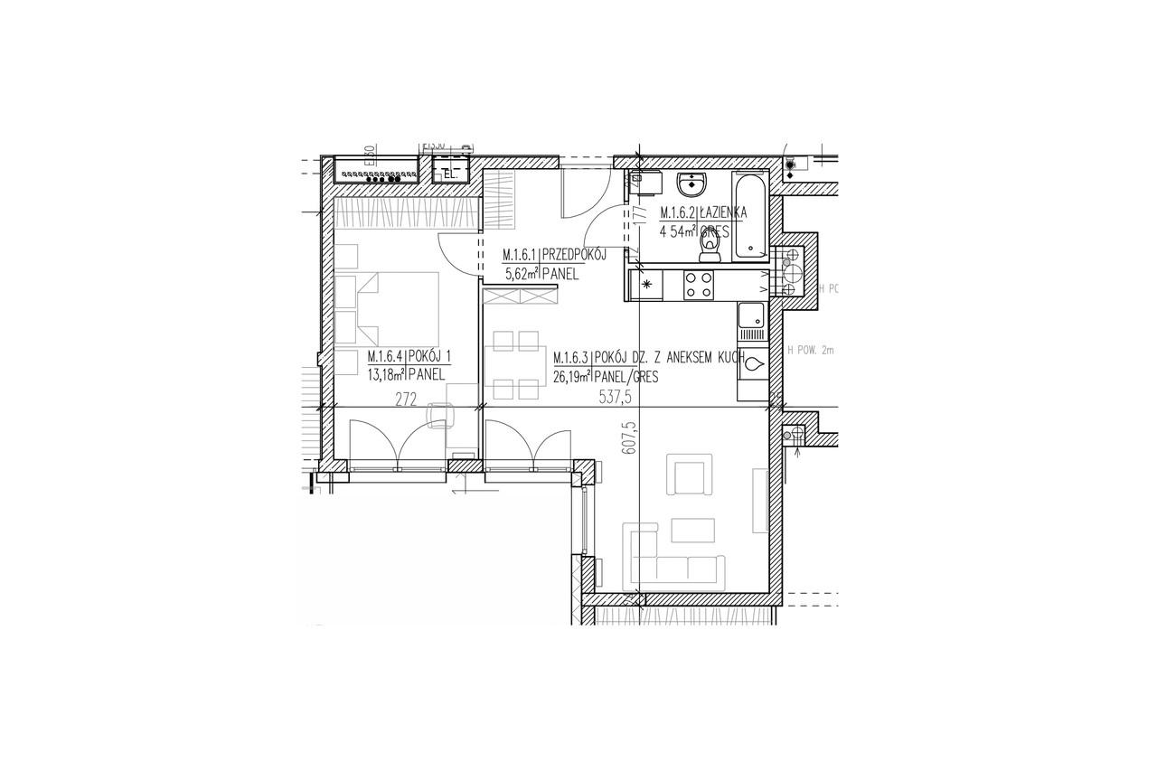 Plan mieszkania B8 06