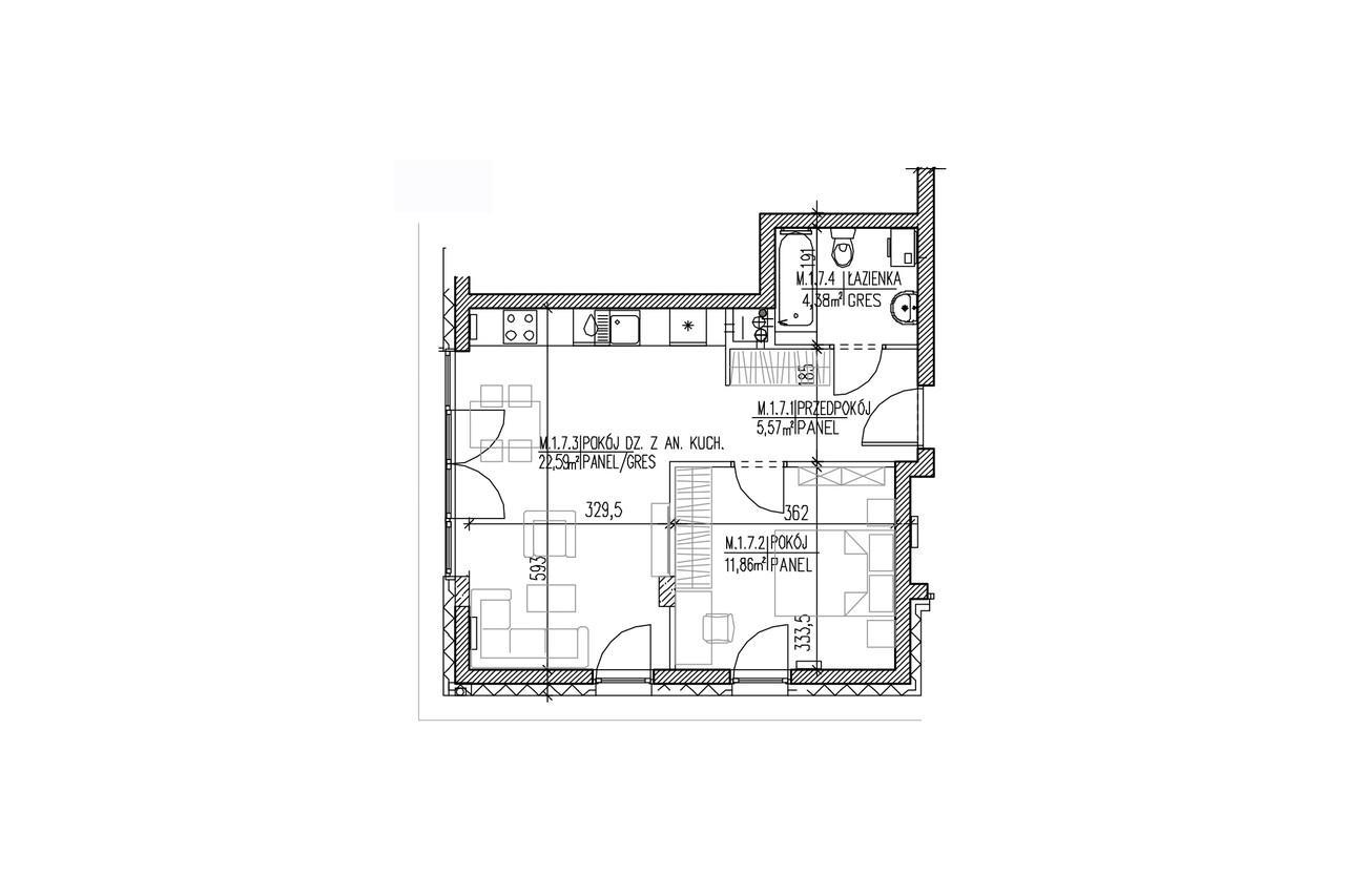 Plan mieszkania B8 07