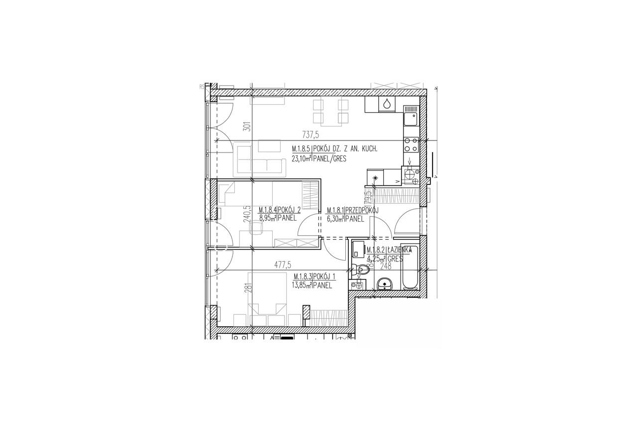 Plan mieszkania B8 08