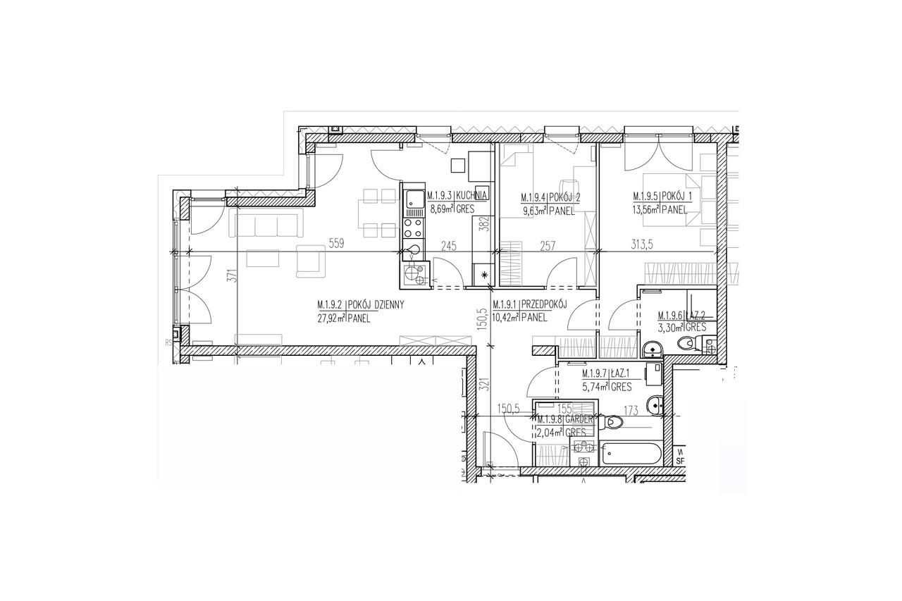 Plan mieszkania B8 09