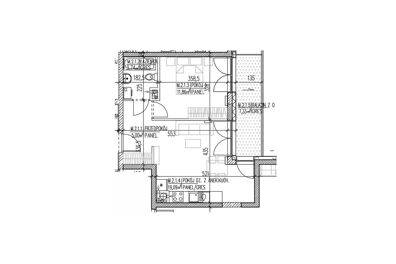 Plan mieszkania B8 11