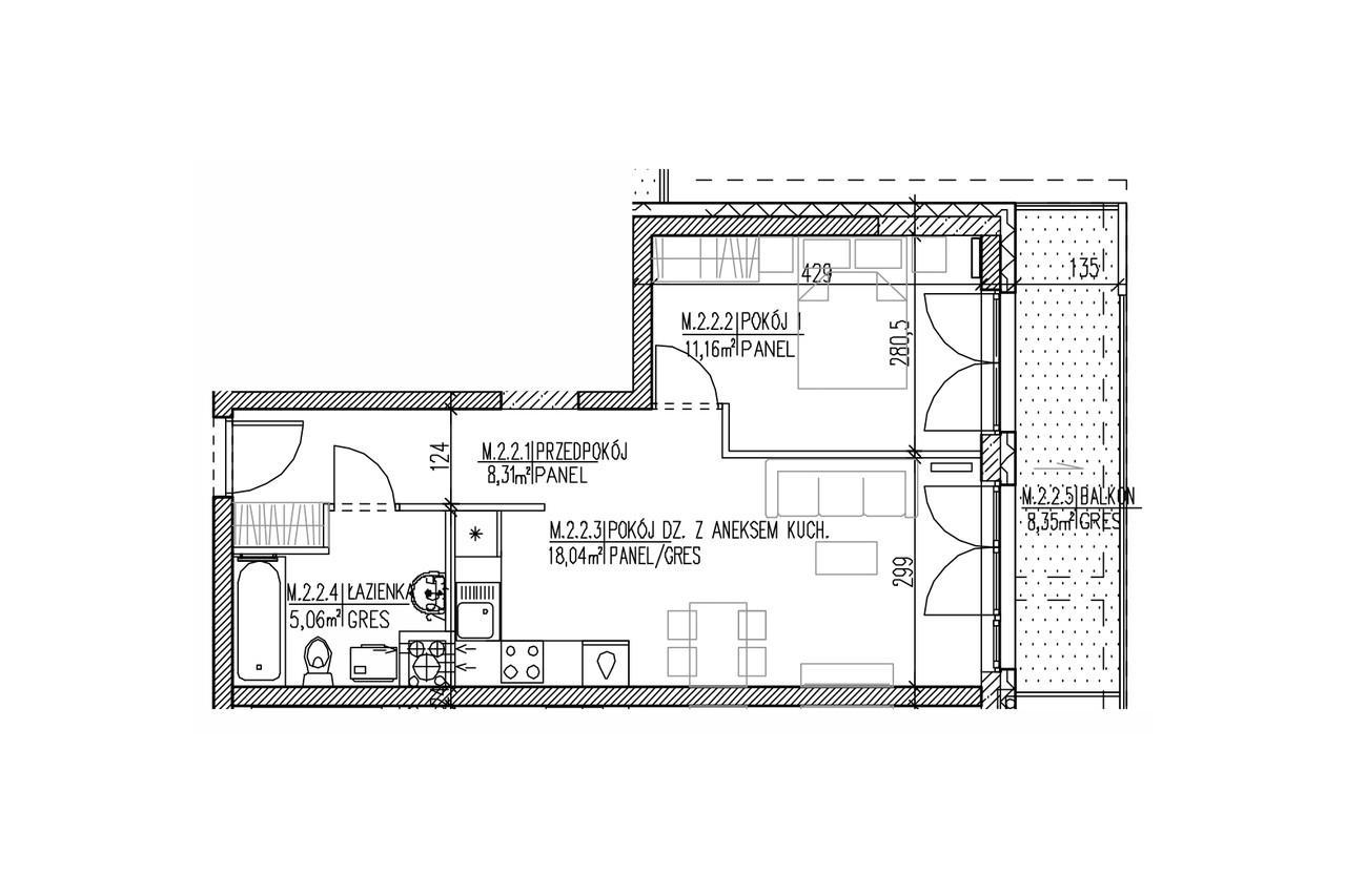 Plan mieszkania B8 12