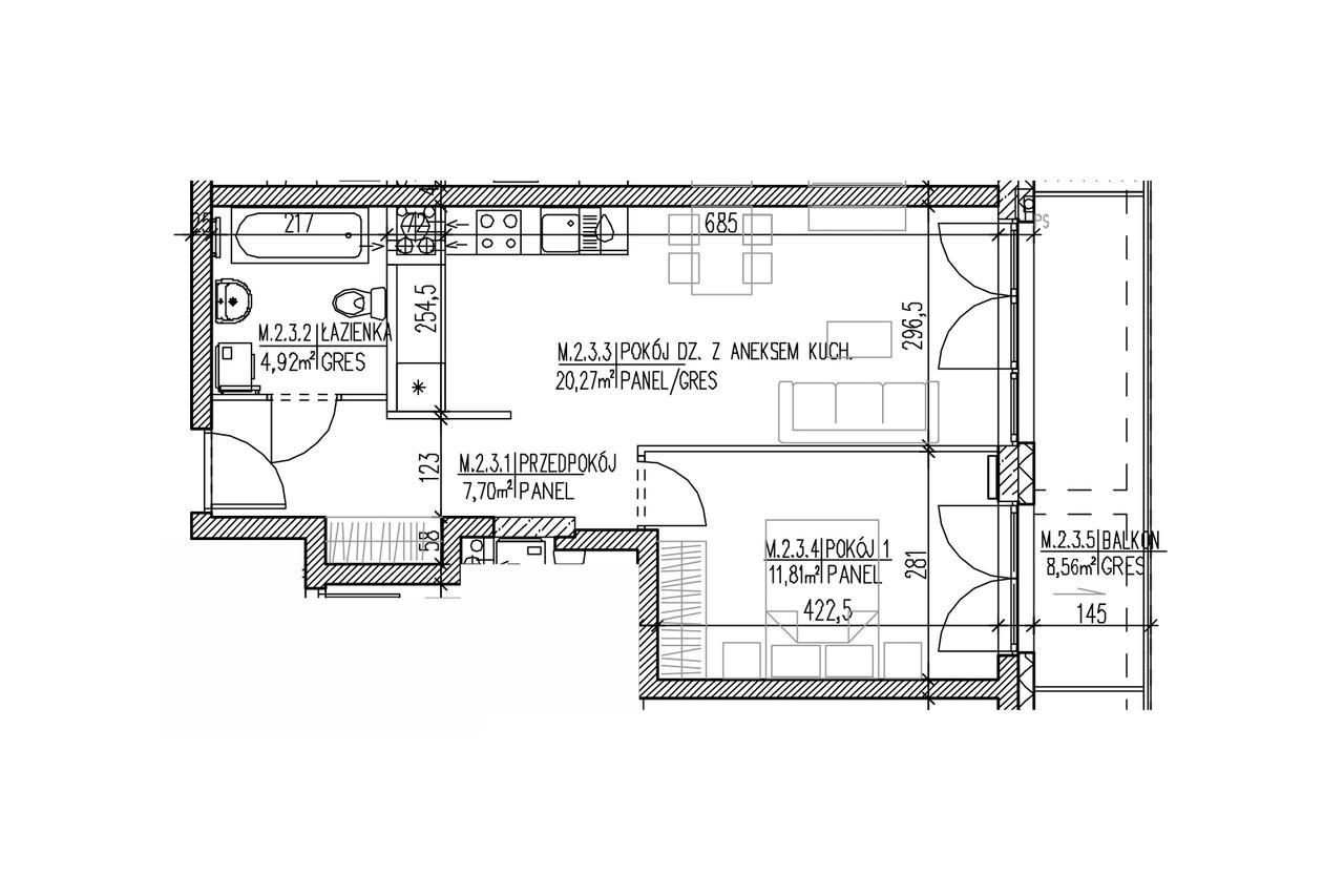 Plan mieszkania B8 13