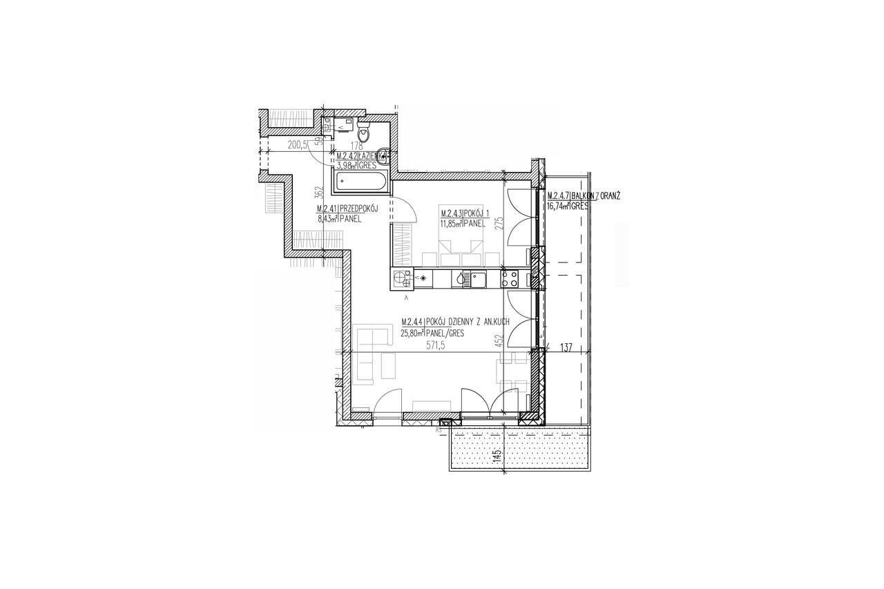 Plan mieszkania B8 14