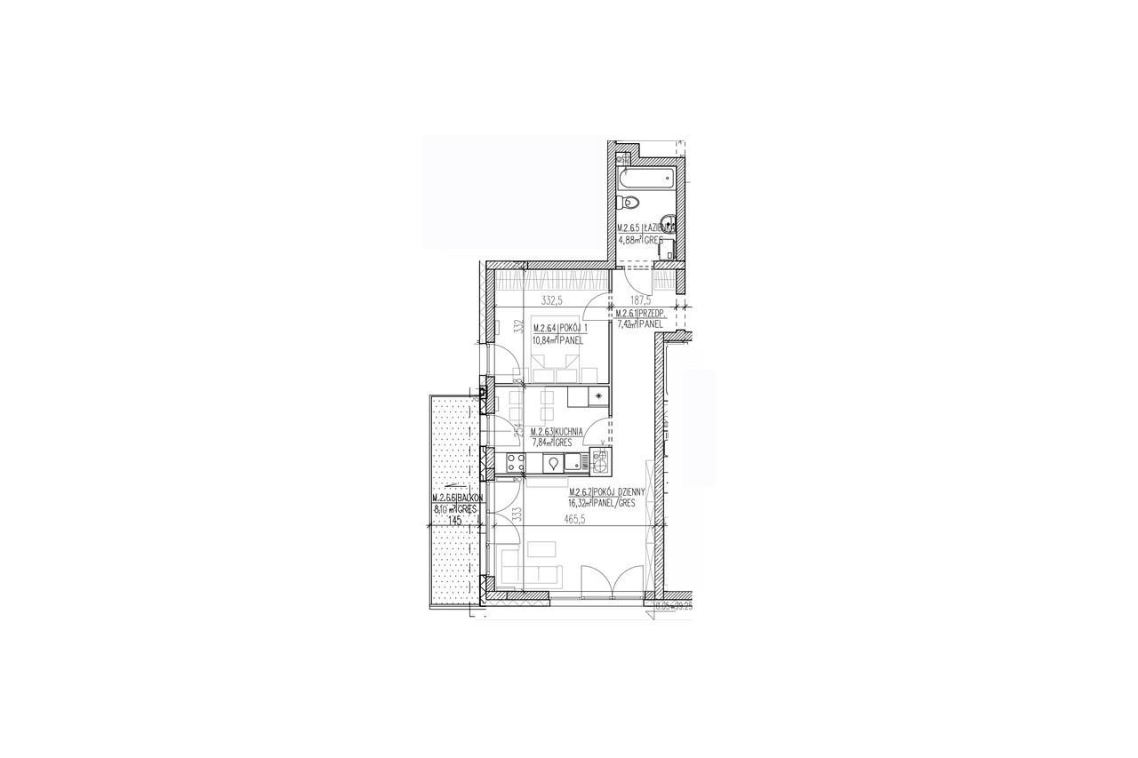 Mieszkanie B9 16 na pierwszym piętrze