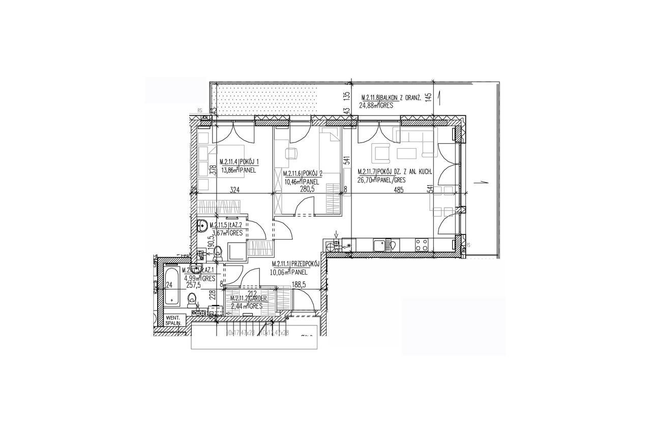 Mieszkanie B9 21 na pierwszym piętrze