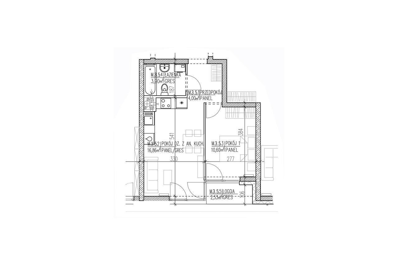 Mieszkanie B9 26 na drugim piętrze