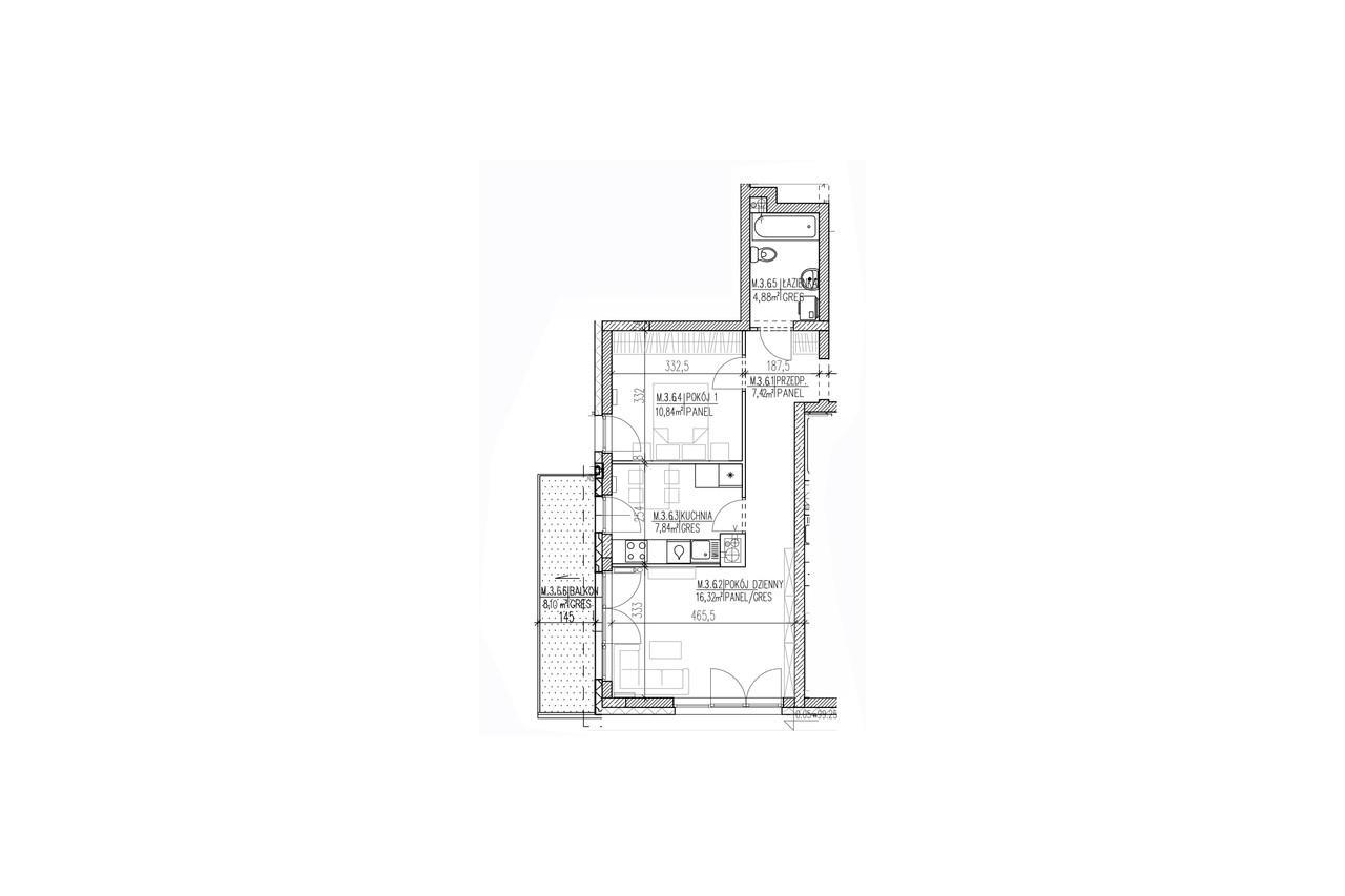 Mieszkanie B9 27 na drugim piętrze