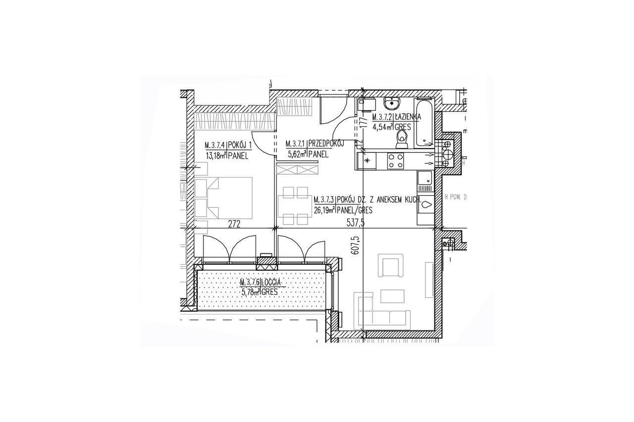 Mieszkanie B9 28 na drugim piętrze