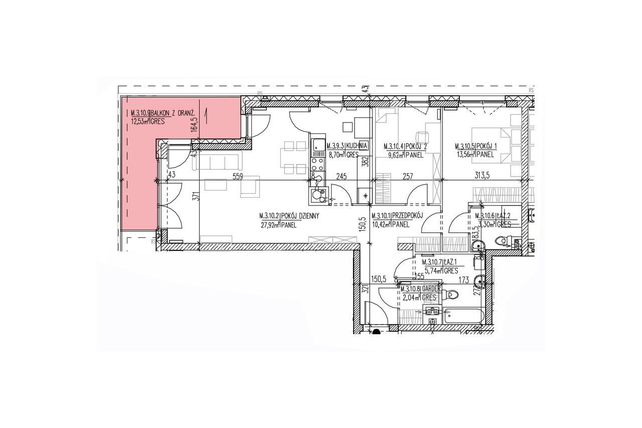 Mieszkanie B9 31 na drugim piętrze