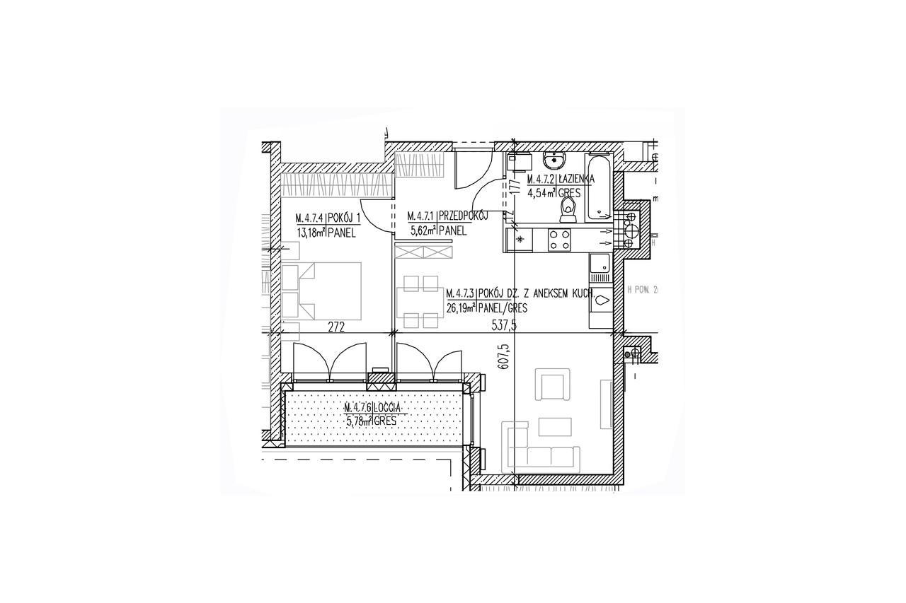 Mieszkanie B9 39 na trzecim piętrze
