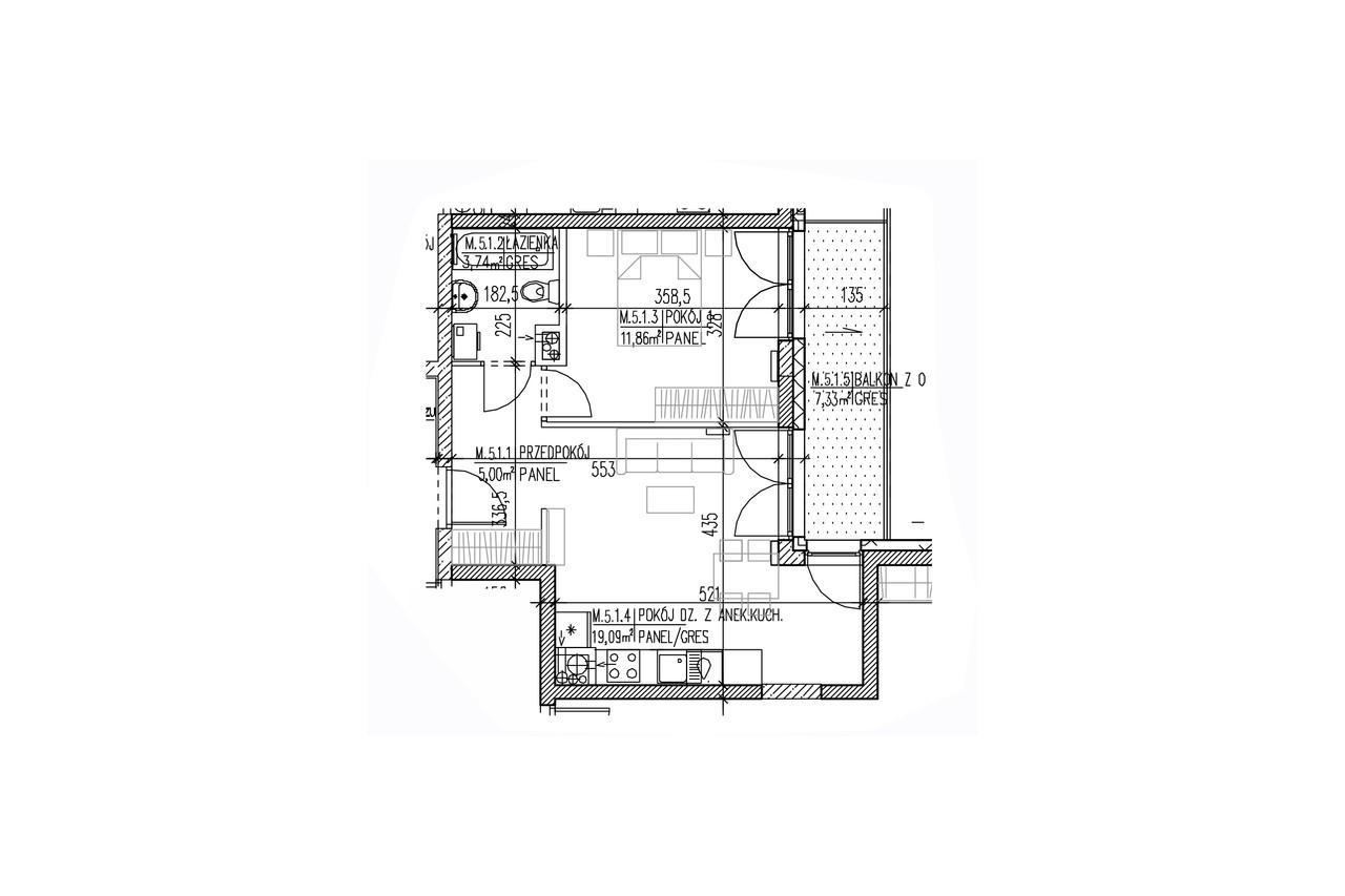 Plan mieszkania B8 44