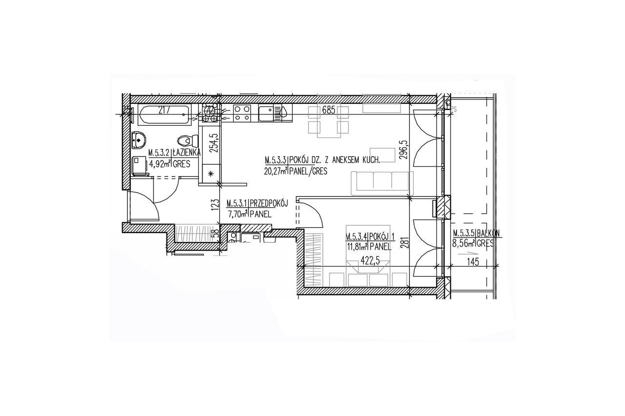 Plan mieszkania B8 46
