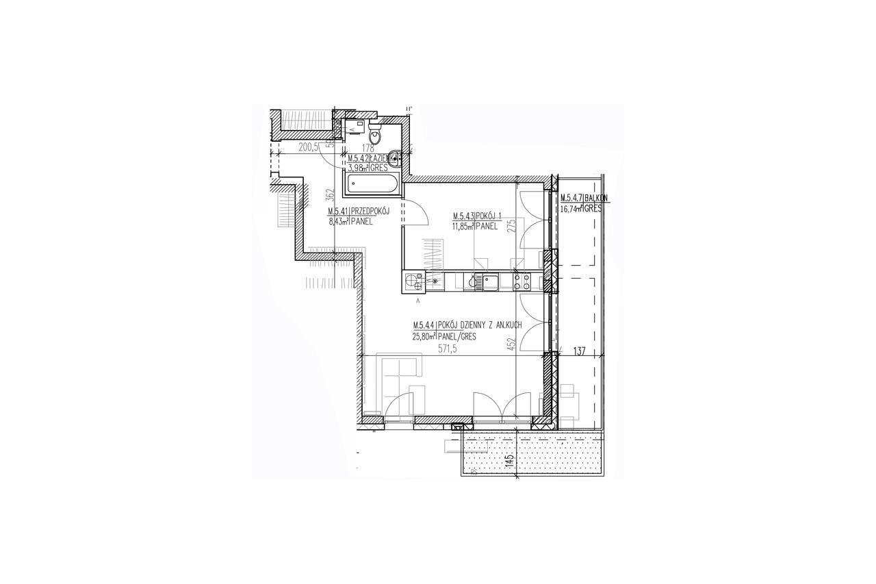 Plan mieszkania B8 47