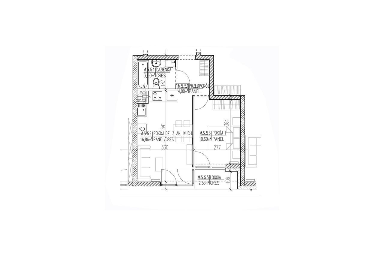 Plan mieszkania B8 48