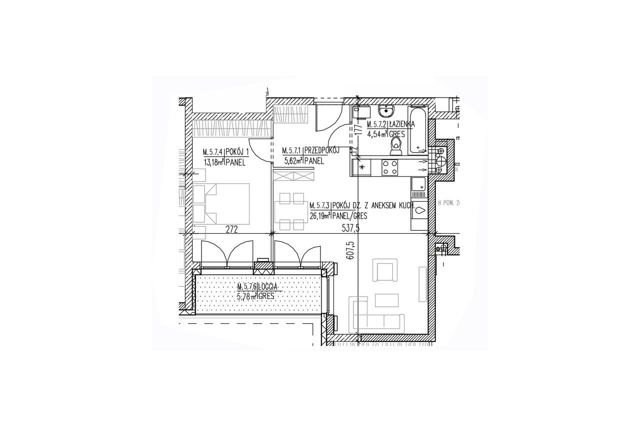 Plan mieszkania B8 50