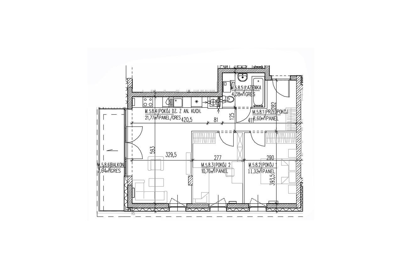 Plan mieszkania B8 51