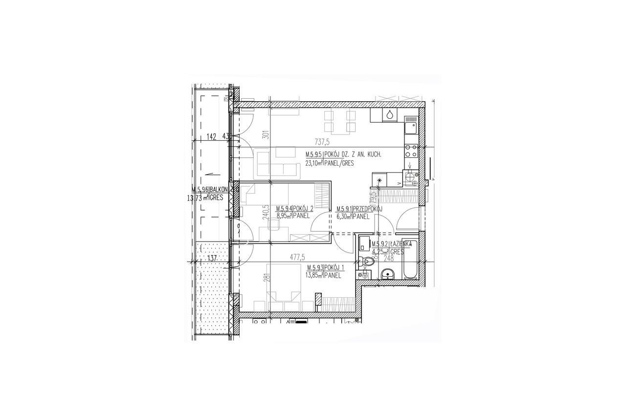 Plan mieszkania B8 52