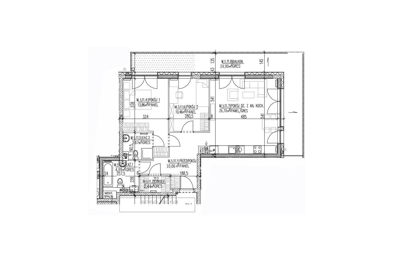 Plan mieszkania B8 54