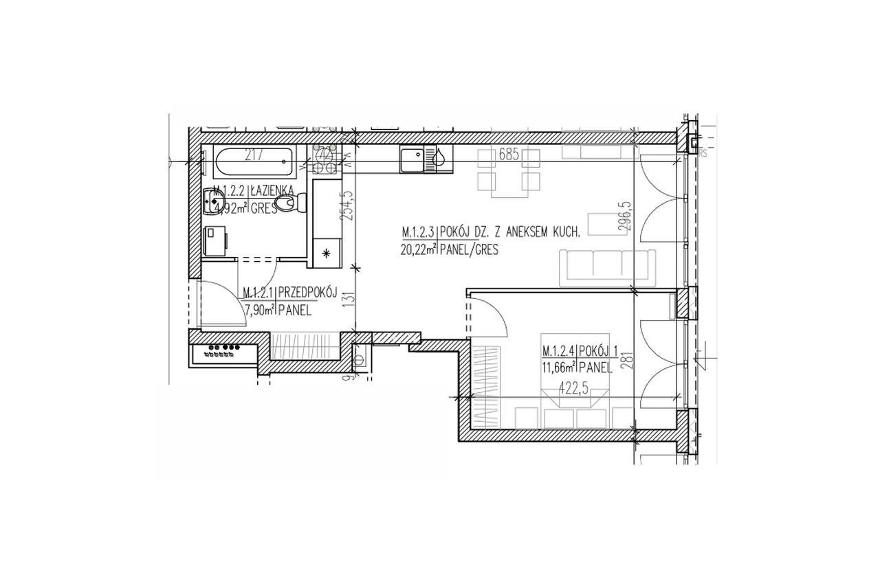 Mieszkanie B9 02 na parterze