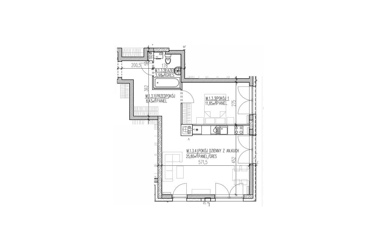 Mieszkanie B9 03 na parterze