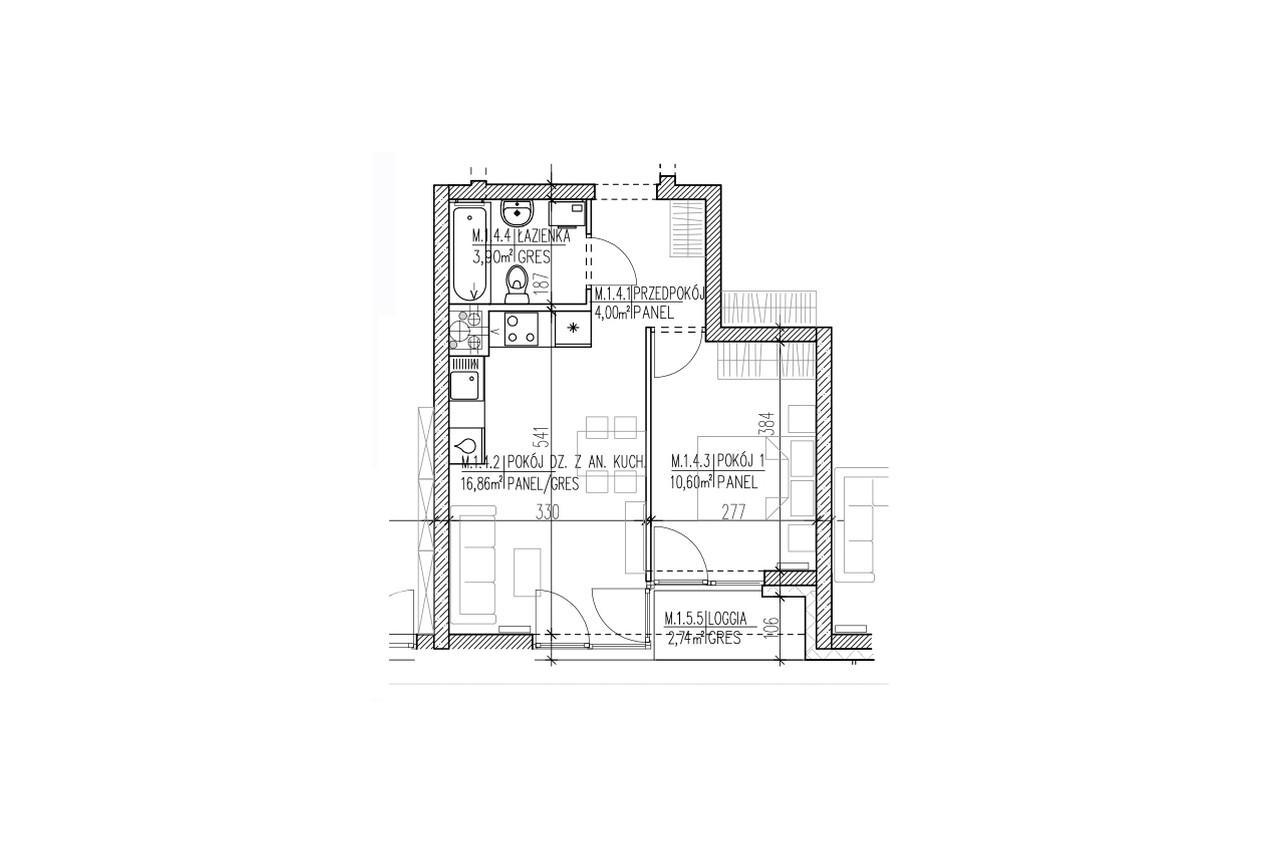 Mieszkanie B9 04 na parterze