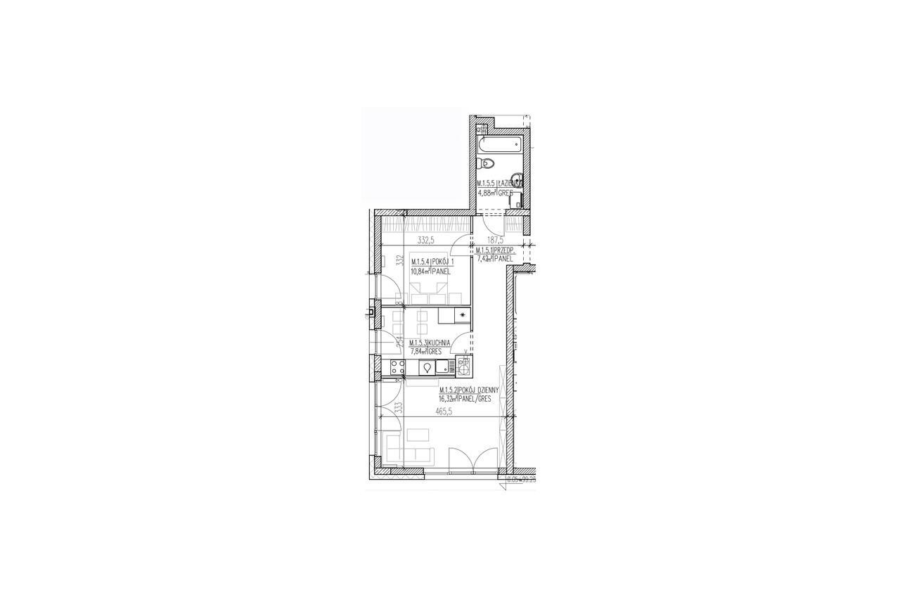 Mieszkanie B9 05 na parterze