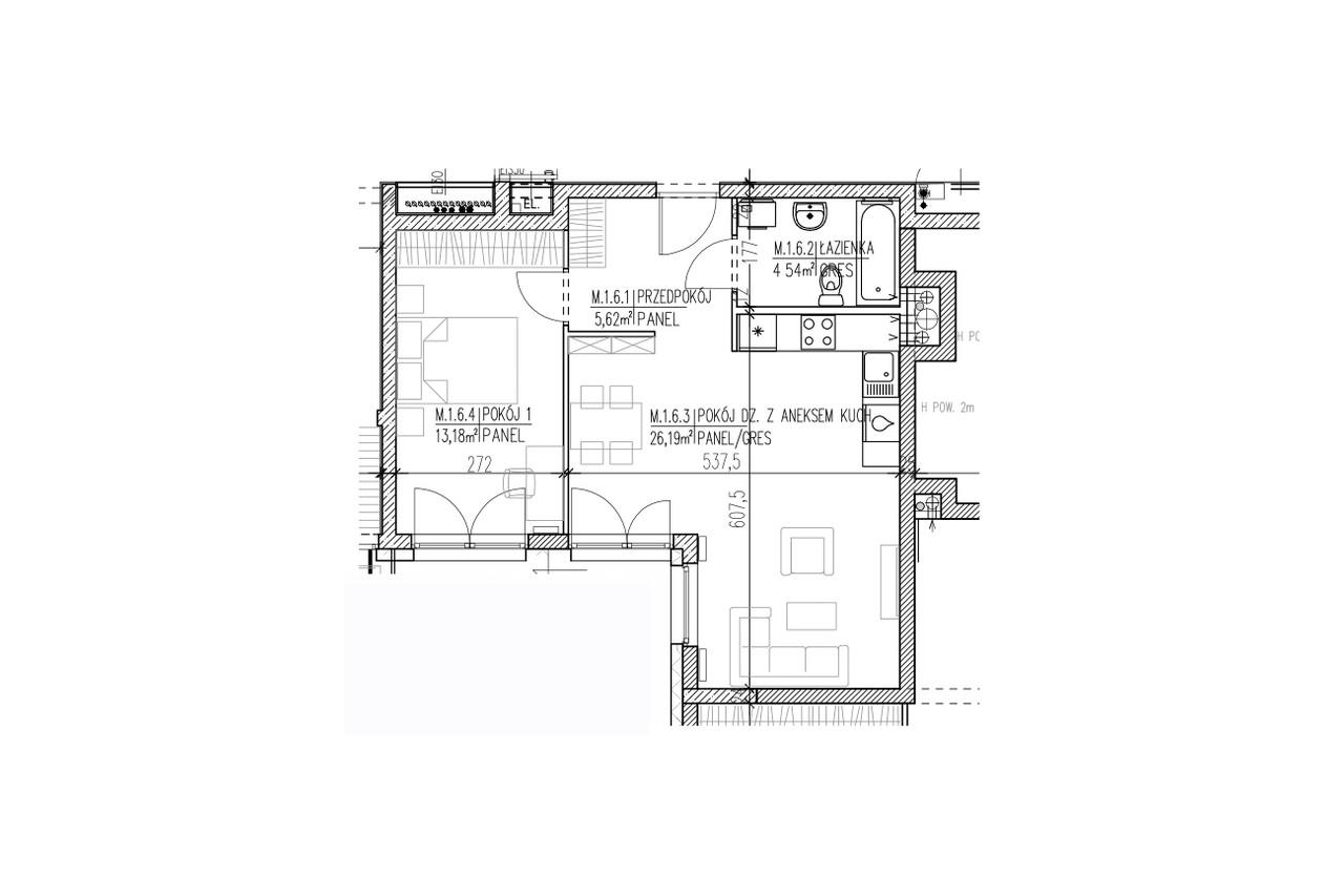 Mieszkanie B9 06 na parterze