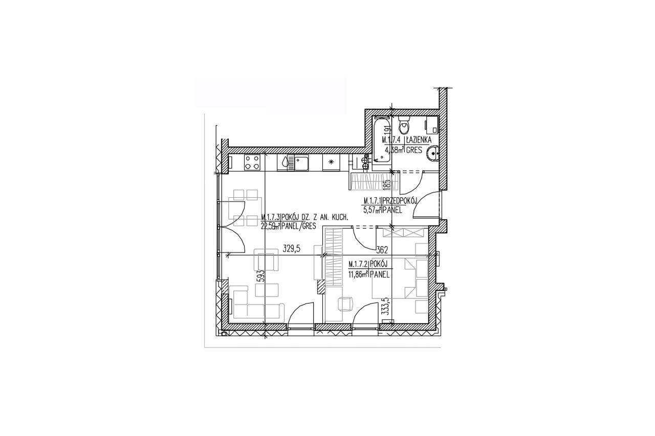 Mieszkanie B9 07 na parterze