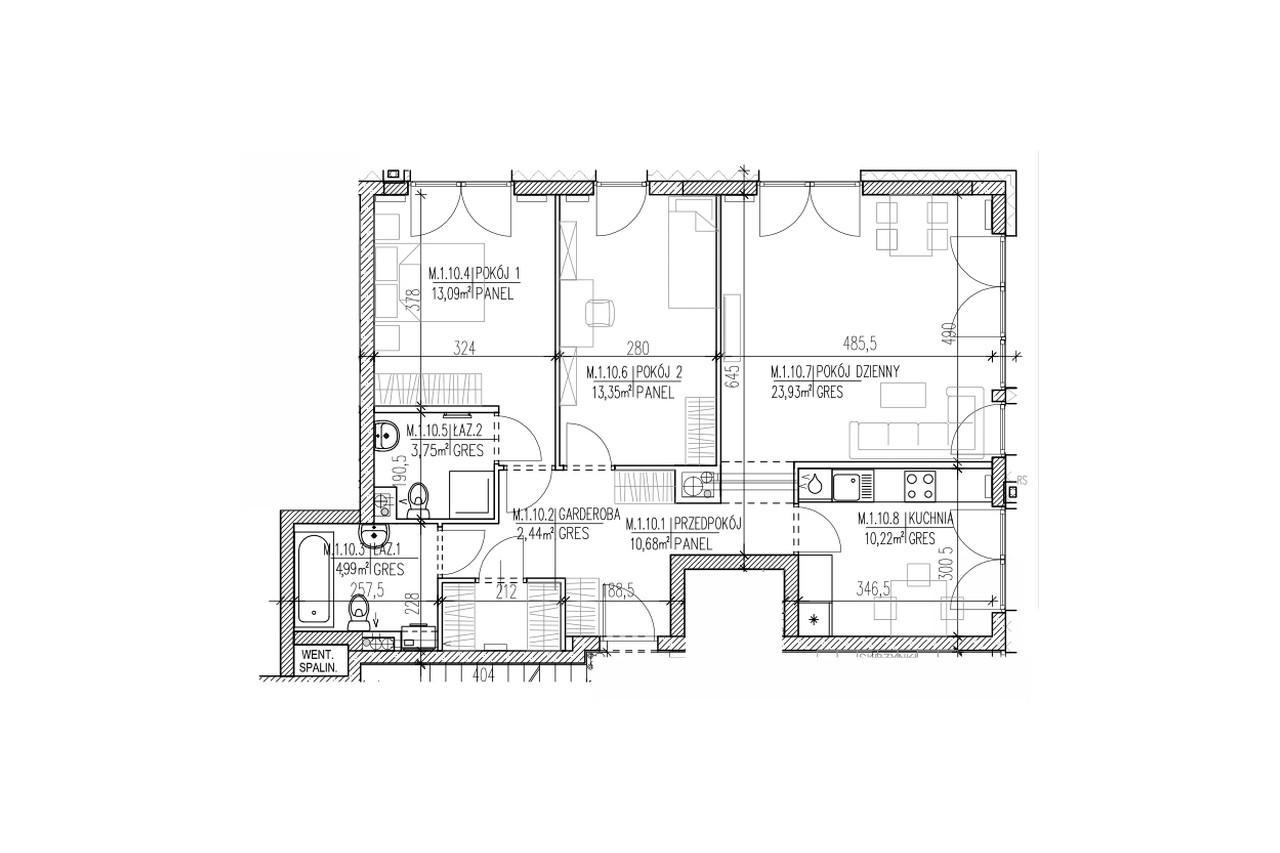 Mieszkanie B9 10 na parterze