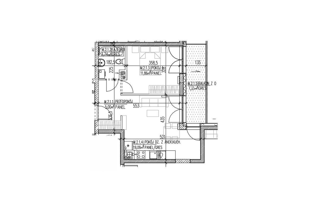 Mieszkanie B9 11 na pierwszym piętrze