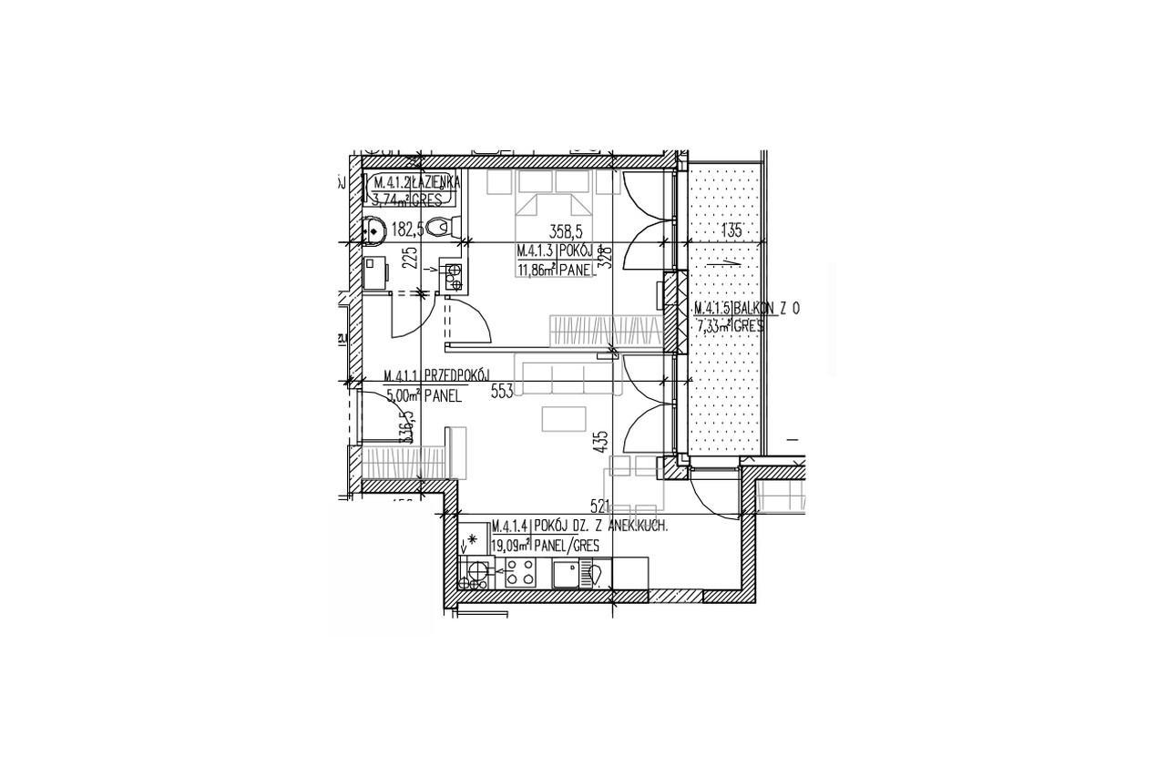 Plan mieszkania B9 33