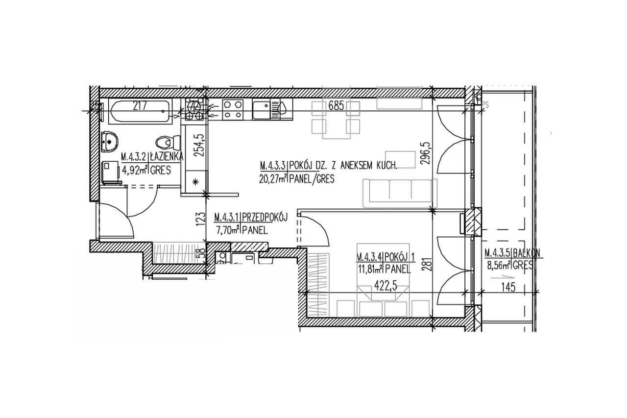 Plan mieszkania B9 35