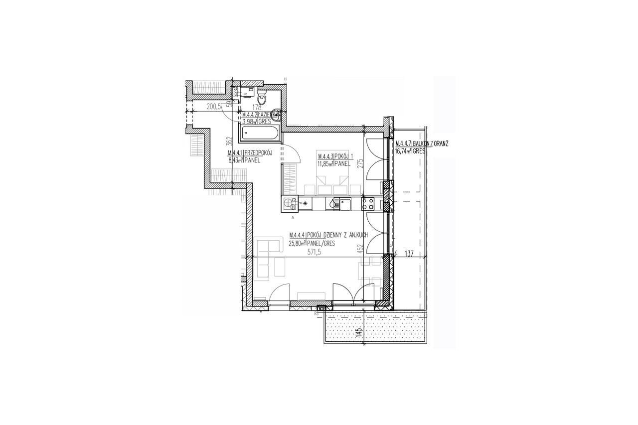Plan mieszkania B9 36