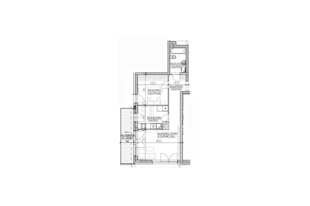 Plan mieszkania B9 38