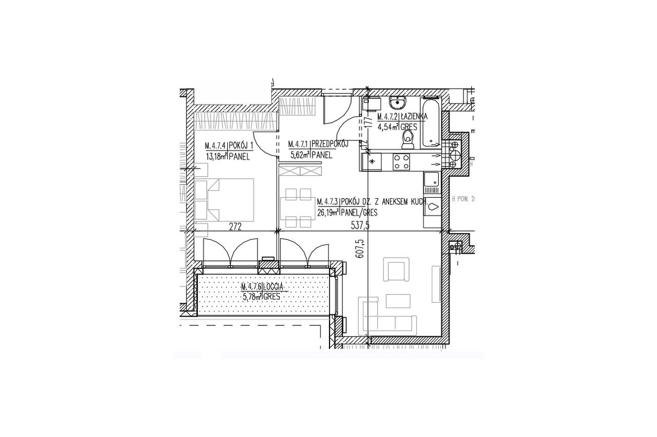 Plan mieszkania B9 39