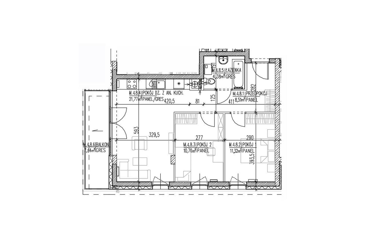 Plan mieszkania B9 40