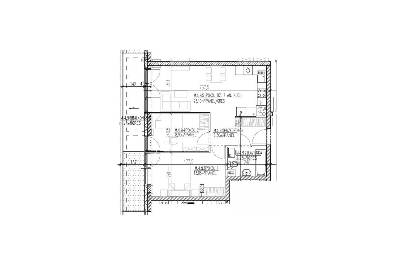Plan mieszkania B9 41