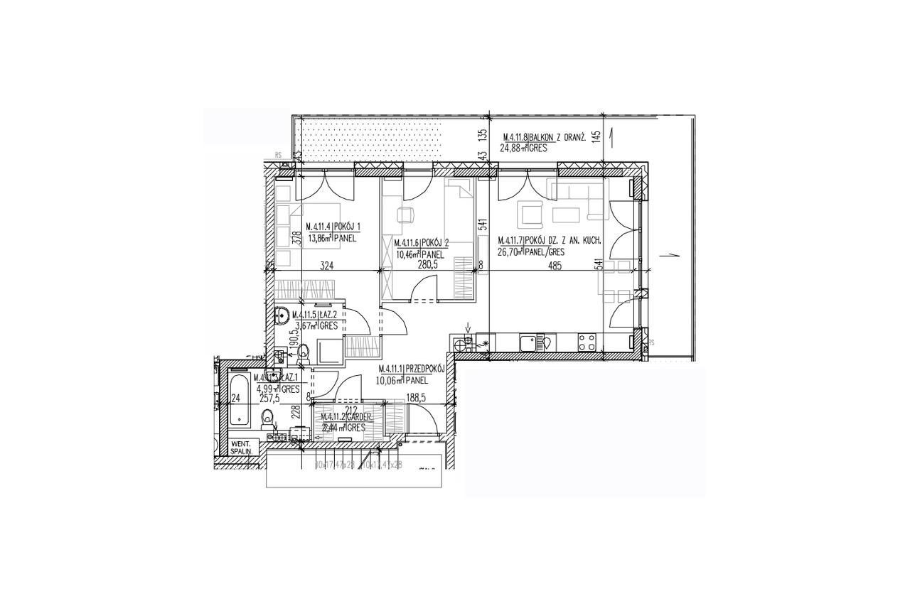 Plan mieszkania B9 43