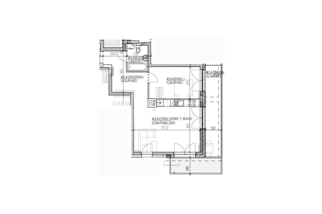 Mieszkanie B9 47 na czwartym piętrze