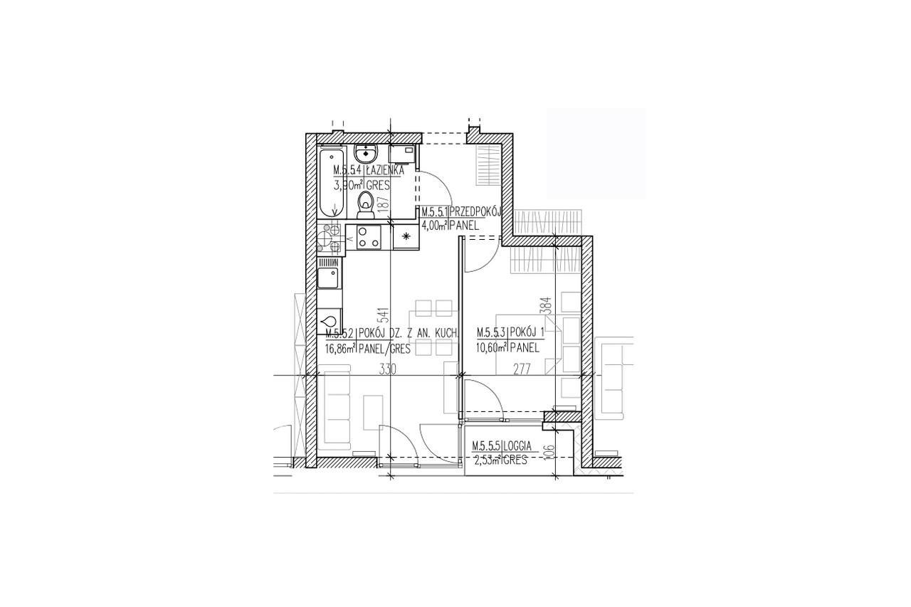 Mieszkanie B9 48 na czwartym piętrze